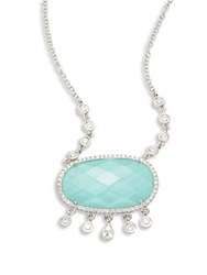 Meira T Diamond And Turquoise Doublet Pendant Necklace White Gold Turquoise