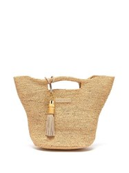 Heidi Klein Grace Bay Super Mini Raffia Bucket Bag Beige