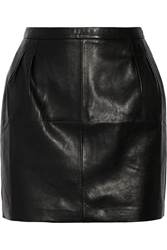 Blk Dnm 20 Leather Mini Skirt Black