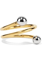 Maria Black Body Spiral Gold Plated Ring