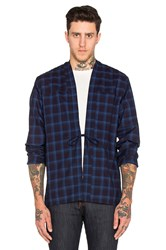 Naked And Famous X Revolve Kimono Shirt Blue