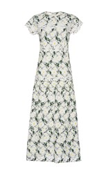 Giambattista Valli Short Sleeve Daisy Dress White