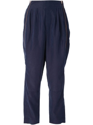 Avelon Side Zip Trousers Blue