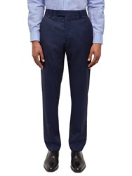 Jaeger Wool Textured Slim Fit Suit Trousers Navy