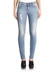 Stella Mccartney The Long Distressed Skinny Jeans Blue Whale