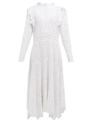 Rebecca Taylor Livy Broderie Anglaise Cotton Blend Dress White