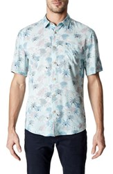 7 Diamonds Rebel Music Trim Fit Short Sleeve Sport Shirt Mint