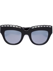 Vera Wang Embellished Cat Eye Sunglasses Black