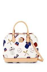 Dooney And Bourke Mets Zip Zip Satchel White