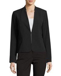T Tahari Zoe Pinstriped Jacket Black