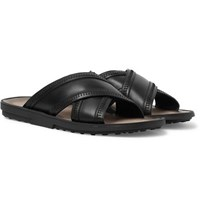 Tod's Leather Sandals Black