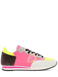 Philippe Model Tropez Suede And Mesh Sneakers Multicolor