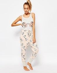 Minkpink Birds Of A Feather Pyjama Pants Pink