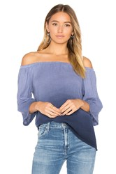 Michael Stars Off Shoulder Top Blue