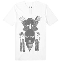 Rick Owens Drkshdw Aztec Mask Level Tee White