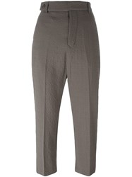 Rick Owens Cropped Trousers Nude Neutrals