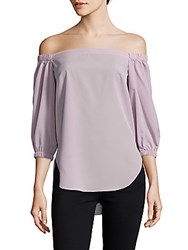 Amanda Uprichard Dakota Off The Shoulder Top Celadon