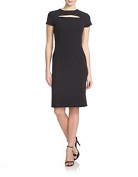1.State Peekaboo Cap Sleeve Dress Black