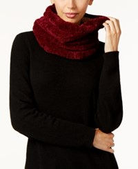 Charter Club Faux Sherpa Lined Chenille Snood Scarf Only At Macy's Mulberry Spice
