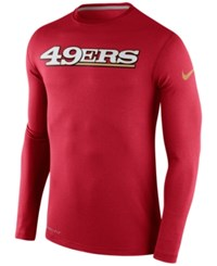 Nike Men's Long Sleeve San Francisco 49Ers Dri Fit Touch T Shirt Red