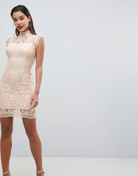 Ax Paris Lace Pencil Dress Pink
