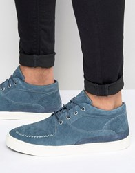 Pointer Mathieson Mid Plimsolls In Suede Blue