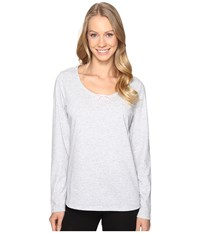 Jockey Long Sleeve Top Heather Grey Women's Pajama Gray