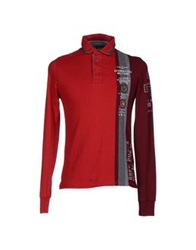 Aeronautica Militare Polo Shirts Red