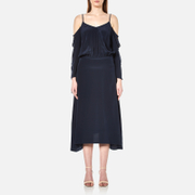Gestuz Women's Jeannine Strap Silk Dress Navy Blue
