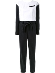 Each X Other Pinstripe Jumpsuit Grey