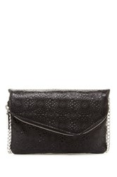 Hobo Daria Leather Crossbody Clutch Black