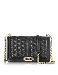 Rebecca Minkoff Black Quilted Leather Love Crossbody Bag