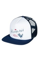 Quiksilver Rooster Graphic Trucker Hat White