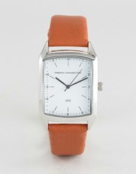 French Connection Watch Square Dial Tan