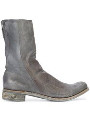 A Diciannoveventitre Kangaroo Distressed Boots Grey