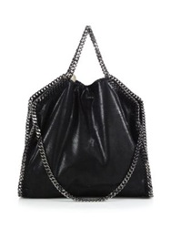 Stella Mccartney Shaggy Deer Falabella Fold Over Small Tote Bright Blue Navy Light Grey Black Violet