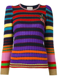 Gucci Striped Long Sleeve Jumper