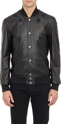Givenchy Lambskin Basketball Jacket Black