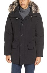 Michael Kors Men's Faux Fur Trim Down And Feather Fill Snorkel Parka