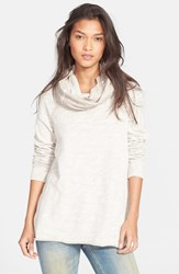 Women's Free People 'Beach Cocoon' Cowl Neck Pullover Oatmeal