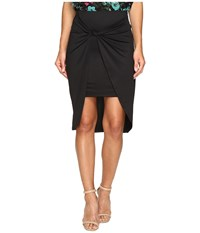 Kensie Draped Knot Detail Skirt Ks2u6002 Black Women's Skirt