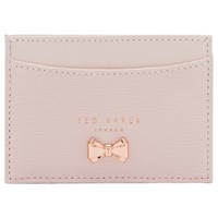 Ted Baker Cilindir Leather Card Holder Baby Pink