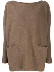 Daniela Gregis Boat Neck Jumper Brown