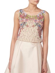 Raishma Floral Embroidered Top Nude