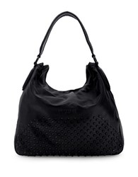 Liebeskind Yokohama Double Dye Studded Hobo Bag Black