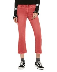 Scotch And Soda Cropped Kick Flare Jeans In Chilli