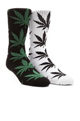 Plantlife Crew Socks In White Huf Plantlife Crew Socks Black
