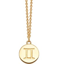 Astley Clarke Gemini Zodiac 18Ct Yellow Gold Plated Necklace