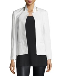 Zadig And Voltaire Volly Cotton Blend Jacket Blanc