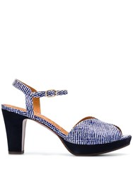 Chie Mihara Chunky Patterned Sandals Blue